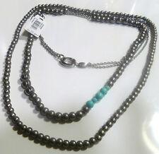 Modeschmuck-Halsketten aus Edelstein und Edelstahl für Damen