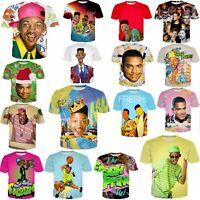 Fresh Prince of Bel Air 3D print women's/men's Short Sleeve T-Shirt Casual Tops