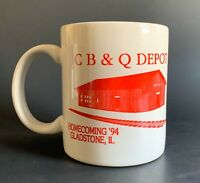 Vintage CB&Q Chicago BURLINGTON & Quincy Railroad Collectible Coffee Cup