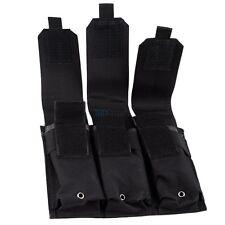 Military MOLLE PALS Triple AR/AK 5.56/.223 Magazine Pouches f Tactical Vest