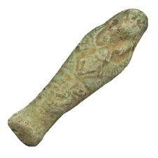 Clay Egyptian Faience Amulet Mummy Talisman Ushabti Pendent Ancient Style Old