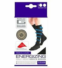 Neo G Energizing Daily Wear Socks Medium Black 4-7UK 14-18mmHg Compression