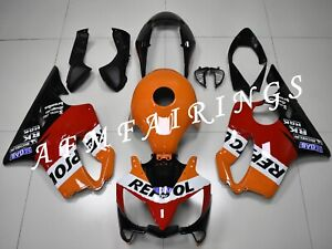 Black Orange Repsol ABS Injection Mold Bodywork Fairing Kit for CBR600F4i 04-06