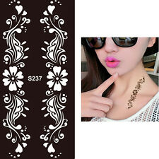 Flower Chain Hands Art Stencils Airbrushing Body Makeup Painting