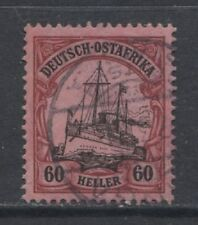 1906 German colonies EAST AFRICA 60 Heller Yacht used, - TANGA- cat € 240.00