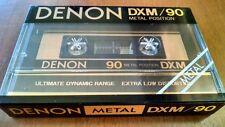 DENON DXM 90 METAL AUDIO CASSETTE TAPE NEW SEALED JAPAN [1] Qty.