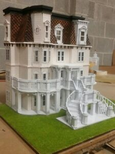 1:48 Scale Hegeler Carus Mansion Dollhouse Kit