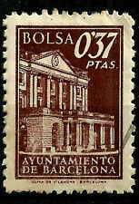 SELLO. AYUNTAMIENTO DE BARCELONA. BOLSA. 0,37 PESETAS