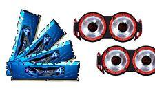 16GB G.Skill Ripjaws 4 DDR4 3400MHz PC4-27200 CL16 Quad Channel kit Blue 2 Fans