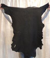 (3) Black Goatskin Leather Hides for Crafts Journals Handbags Laces Buckskins
