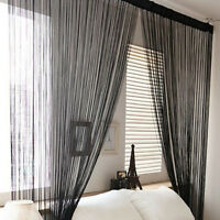Room Door Window Curtain Tassel Line String Striking Curtain Scarf Panel Valance