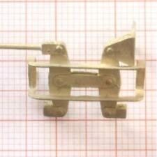 Hübner Bremstrapez für Schmalspurwagen, Messing , Spur 1e  .  #443009