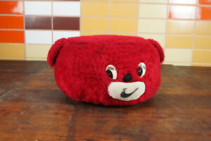 60er Vintage Stool Seat Cushion Pouf Dog Ottoman Footrest Plush 70s