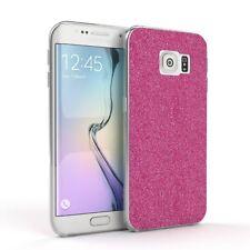Schutz Hülle für Samsung Galaxy S6 Edge  Glitzer Cover Handy Case Pink