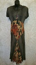 Carole Little Petite Animal Print Maxi Dress Sz 10 #3642