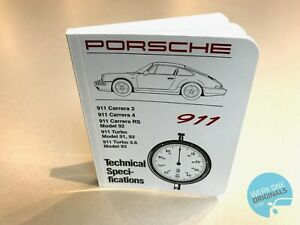Porsche 911 964 Technical Specification Book Workshop Manual