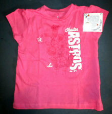 NWT MAJESTIC S/S MLB HOUSTON ASTROS T SHIRT PINK GIRLS MEDIUM 7/8