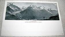Vintage Chamonix, Le Mont Blanc, French Alps Postcard - UDB Undivided Back