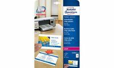 Avery Zweckform Visitenkarten Karten weiß satiniert 85x54 250 Stück Drucker