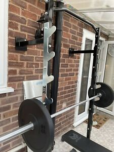 Compact Heavy Duty Wall Mounted Squat Rack/ Bench Press Rack With Pull Up Bar
