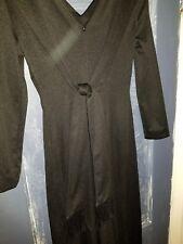 vintage jumpsuit small wide leg black zips in the back 2 straps each shoulder