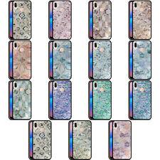 Micklyn Le Feuvre patrones de mármol negra híbrida de cristal nuevo caso para teléfonos HUAWEI