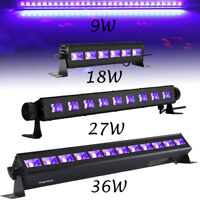 LED UV Black Lights 36W 27W 18W 9W Bar Stage Lighting DJ Disco Xma Fixtures Lamp