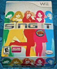 Wii Disney Sing It Bundle + Microphone Nintendo SYSTEM GAME bundle NEW SEALED