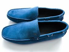 $750 BRIONI Light Blue Suede Shoes Loafers Moccasins 10.5 US 43.5 Euro 9.5 UK