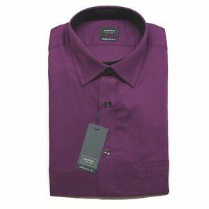 Men's Arrow Regular-Fit Textured Dress Shirt - Deep Purple - 2XL 18-18.5, 36/37