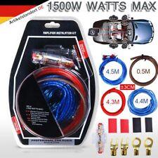 9tlg 10AWG Car-Hifi Kabelset KFZ AUTO Kabel Satz für Endstufe Verstärker Amp DHL