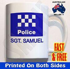 PERSONALISED Police CERAMIC coffee mug birthday gift novelty Fathers Day