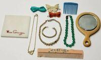 Vintage Doll Accessories lot Necklaces, Comb, Barrettes, Mirror
