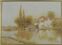 Antique Original English Watercolor Painting by Francis Berry Listed