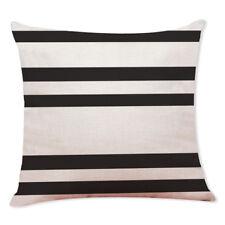 Boho Geometric Polyester Pillow Case Waist Cushion Cover Sofa Home Decor Novelty #05 Black and White
