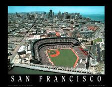 San Francisco Giants AT&T Stadium Gameday Aerial View Premium Poster Print