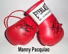 Autographed Mini Boxing Gloves Timothy Bradley V Manny Pacquiao