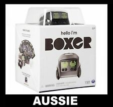 BOXER - Interactive A.I. Robot Toy w/10 Games (Black) Spin Master ~ NEW