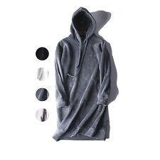 Women Long Oversized Sweatshirt Hoodie Velvet Warm Loose Casual Top Thick Unisex