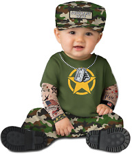 Baby Boys Girls Army Soldier Military Cute Fancy Dress Costume Outfit 0-24 mths