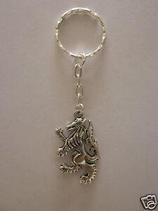 England English Lion Logo Silver Plated Keychain Keyring