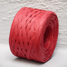 Paper Raffia Red 4mm Wide 100 Metres