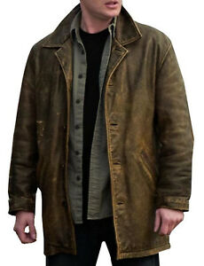 Dean Winchester Supernatural Distressed Brown 100% Real Leather Jacket Coat