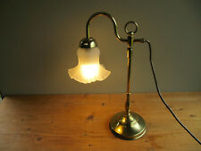 Brass Table Lamp with Frosted Glass Shade