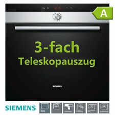 Siemens Einbau Backofen Edelstahl autark Einbaubackofen Heissluft Herd Uhr EEK A