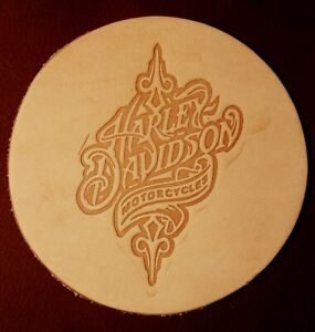 ACRYLIC Leather Embossing Stamp - HARLEY DAVIDSON DESIGN for Veg Tanned Leather