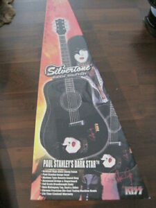 Paul Stanley KISS Dark Star PSD1 acoustic SILVERTONE guitar  NEW in box RARE