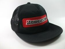 Bridgestone Patch Hat Black Snapback Trucker Cap