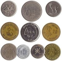 10 DIFFERENT COINS FROM THE ARAB COUNTRIES (ARABSPHERE). OLD COLLECTIBLE COINS