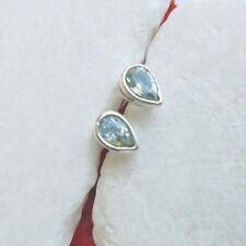 Blautopas, blau, Tropfen, elegant, Ohrringe, Ohrstecker, 925 Sterling Silber neu